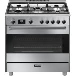 SmegSmeg Free-Standing Dual-Fuel Range, Approx. 36&quot, Stainless Steel