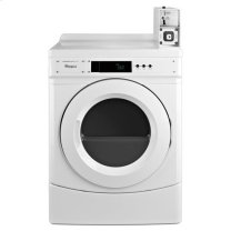 "Whirlpool(R) 27"" Commercial Gas Front-Load Dryer Featuring Factory-Installed Coin Drop with Coin Box - White"
