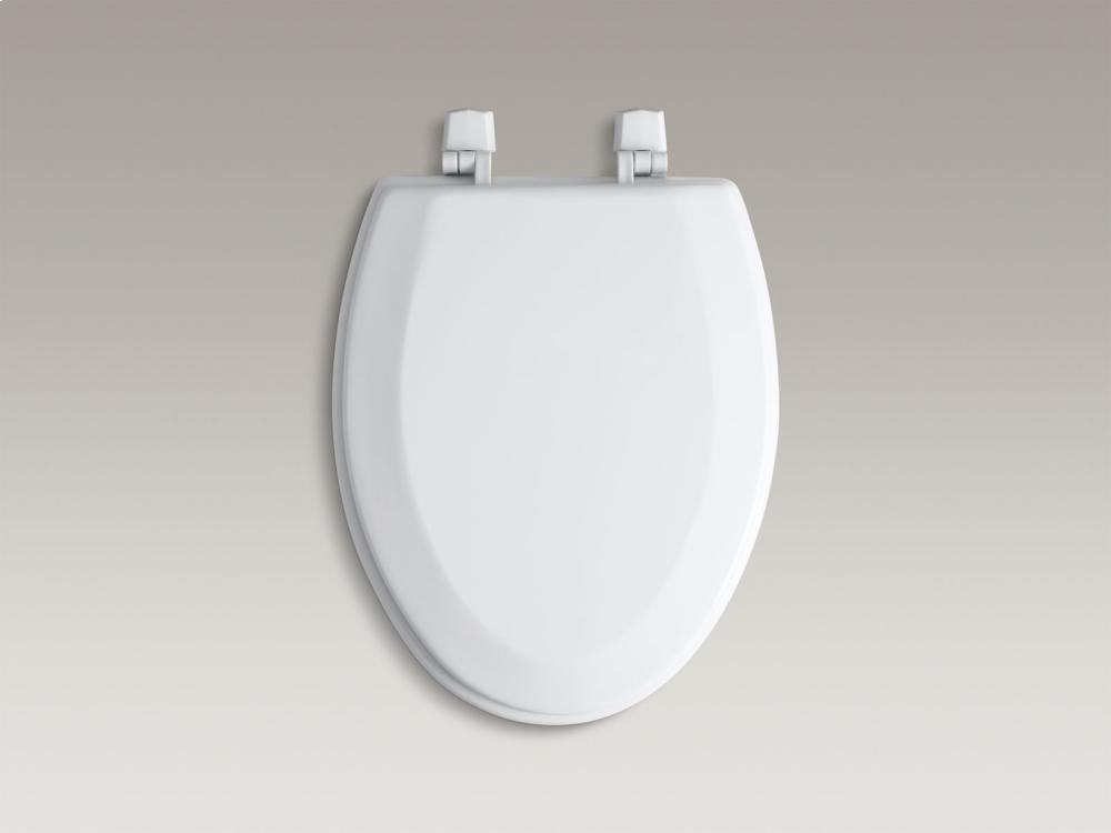 Hidden   Additional Ice Grey Elongated Toilet Seat With Plastic Hinges  Hidden  Kohler Logo. Kohler K4712T95   Studio41   Ice Grey Elongated Toilet Seat With