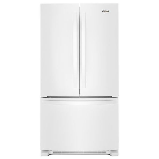 Whirlpool(R) 33-inch Wide French Door Refrigerator - 22 cu. ft. - White  White