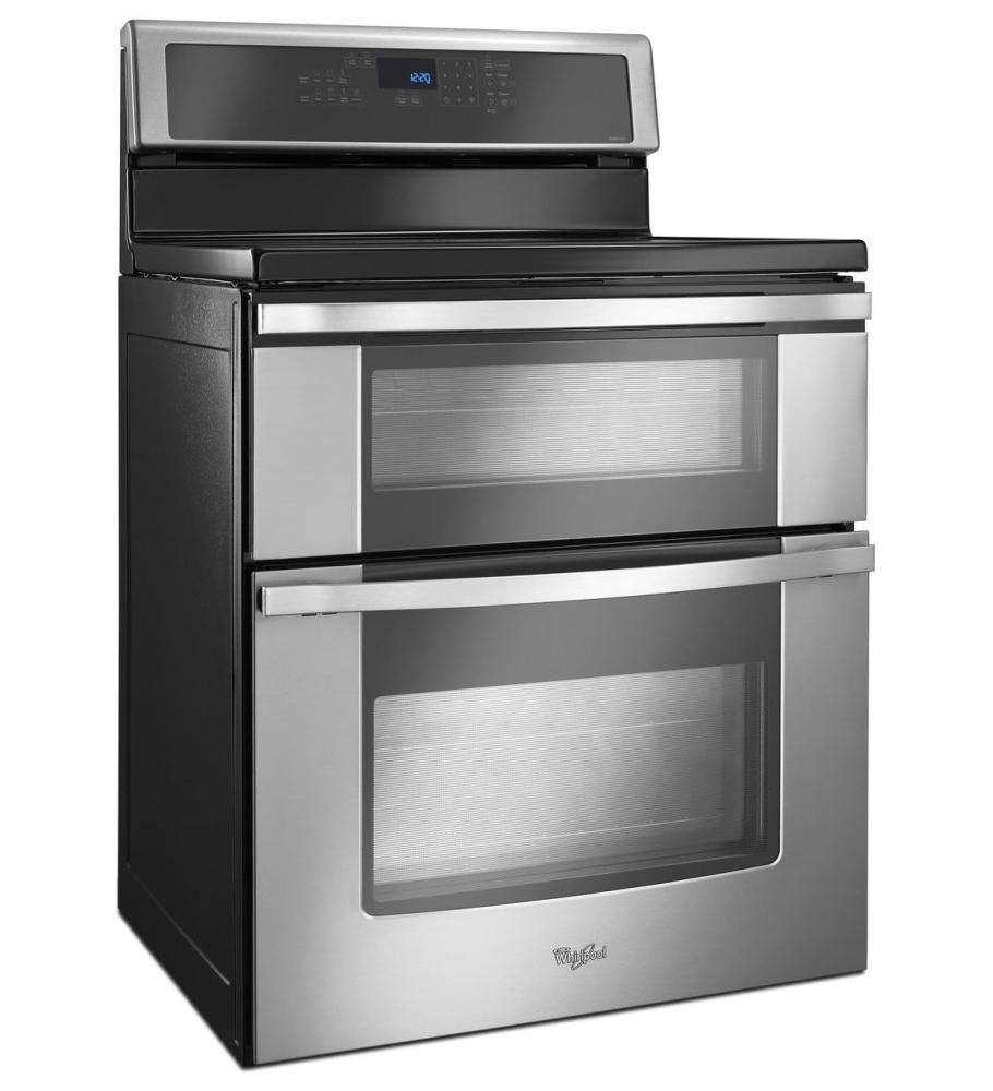 Wgi925c0bs whirlpool 6 7 total cu ft double oven - Whirlpool discount ...