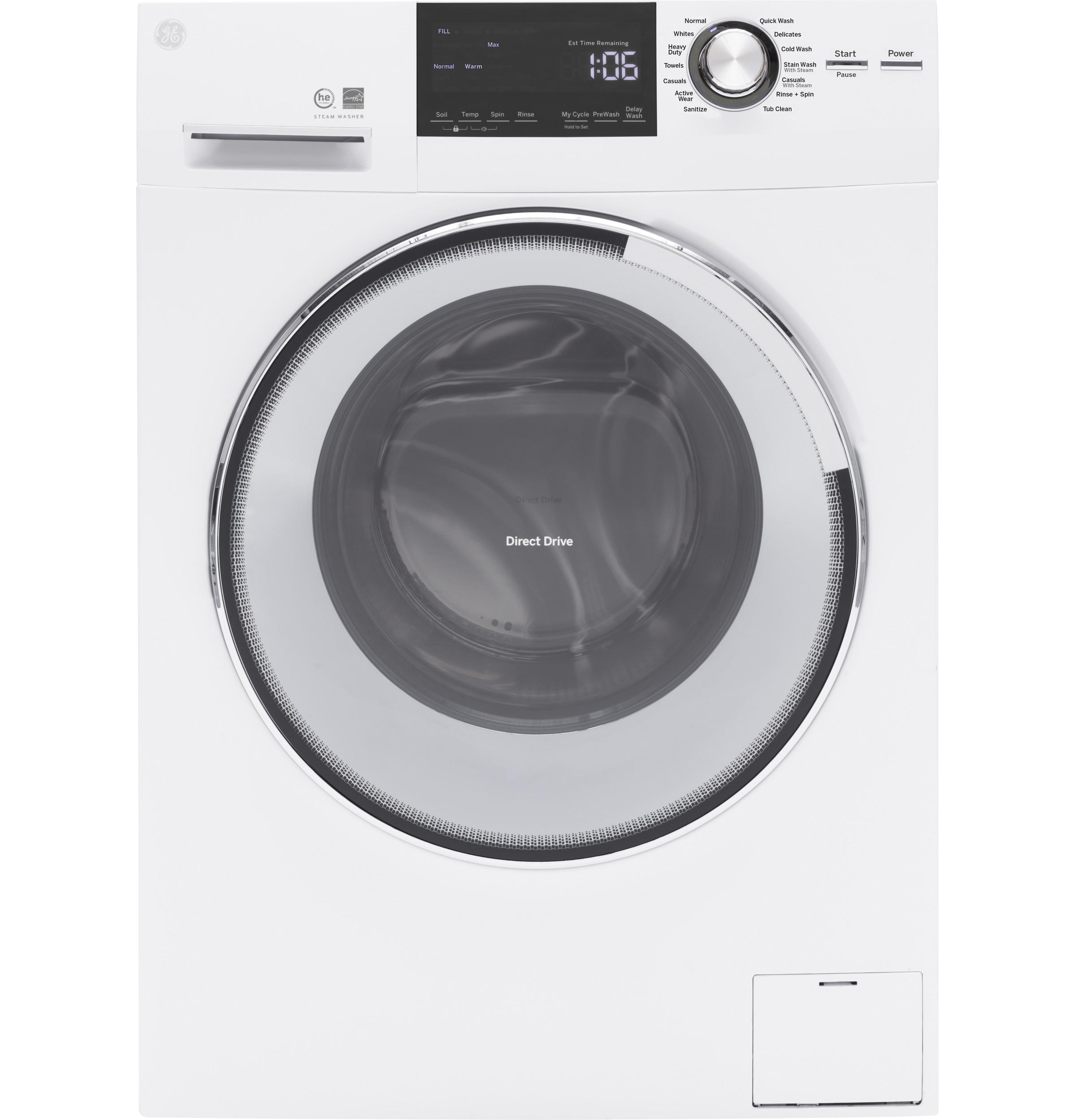 GE(R) 2.4 DOE Cu. Ft. Frontload Washer with Steam