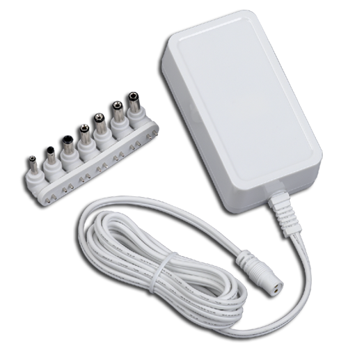 Universal AC to DC power adapter