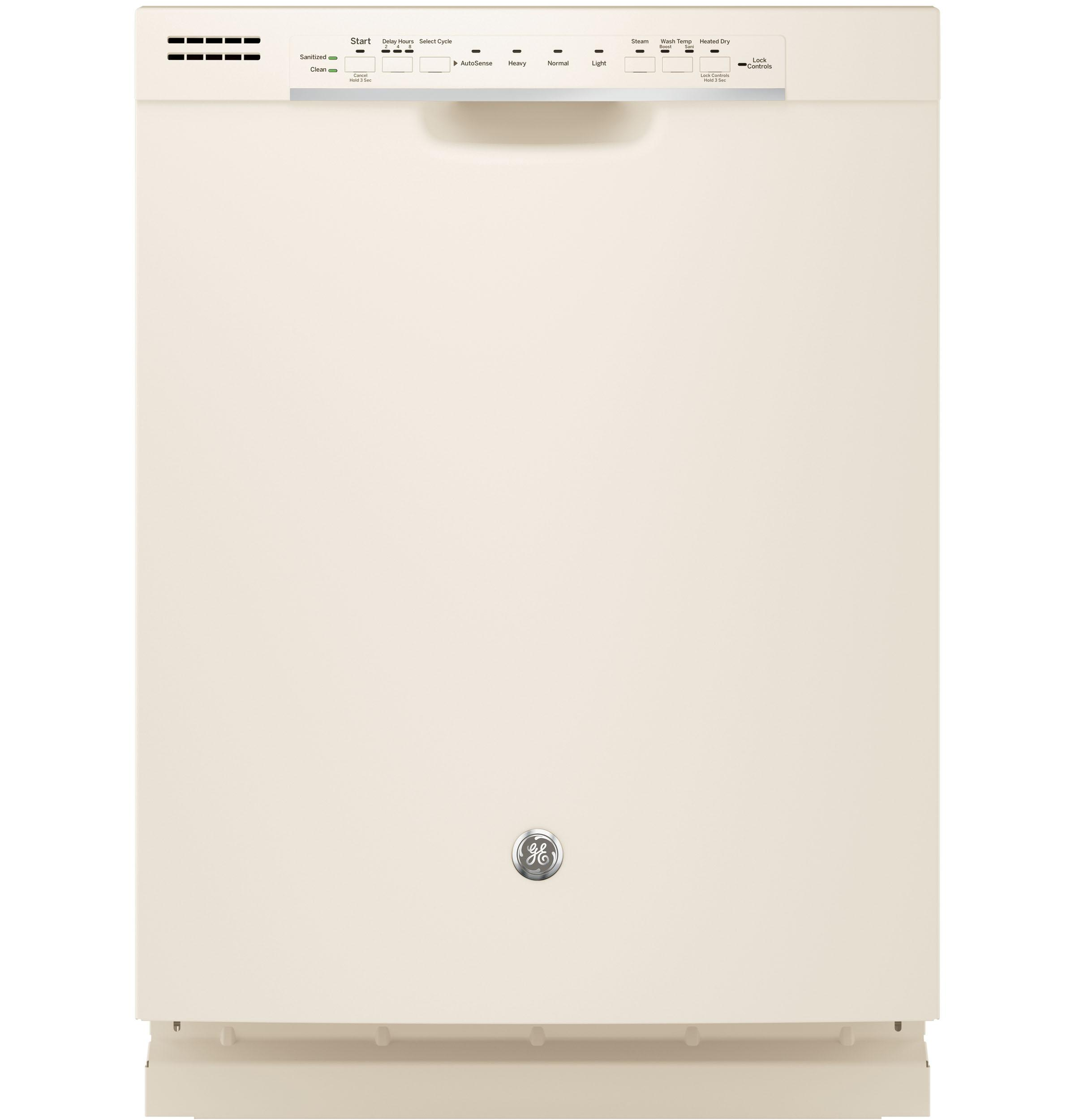 GE(R) Dishwasher with Front Controls  Bisque