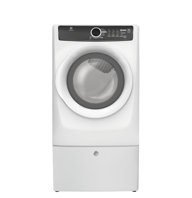 Front Load Perfect Steam(TM) Electric Dryer with 7 cycles - 8.0 Cu. Ft.