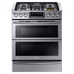 SamsungNY58J9850WS Slide-in Dual Fuel Range with Flex Duo and Dual Door