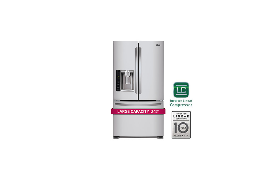 Ultra-Large Capacity 3 Door French Door Refrigerator with Smart Cooling  Stainless Steel