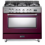 VeronaVerona Burgundy 36&quot Dual Fuel Single Oven Range - Prestige Series