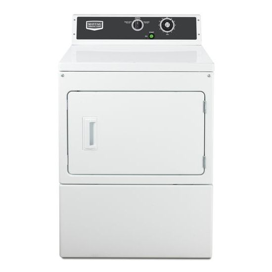 Maytag(R) Commercial Gas Super-Capacity Dryer, Mechanical Non-Coin - White