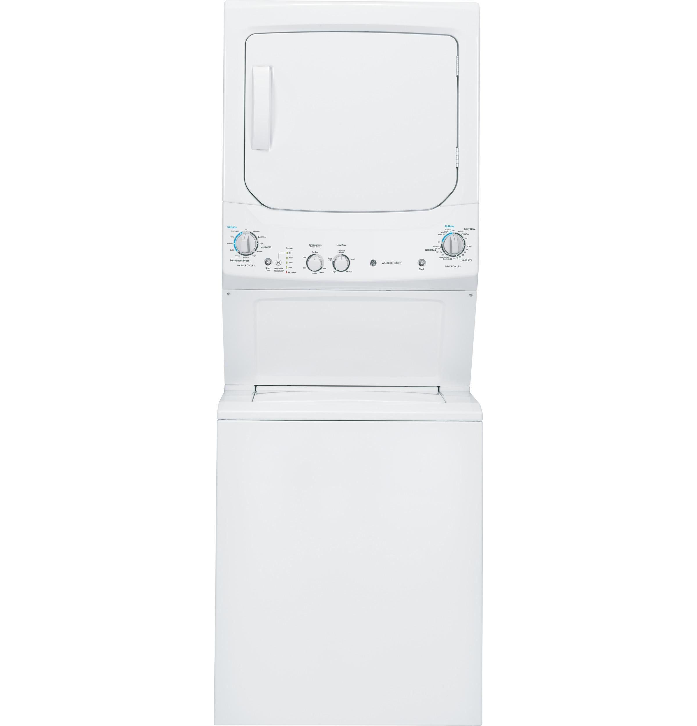 GE Unitized Spacemaker(R) 3.2 DOE cu. ft. Washer and 5.9 cu. ft. Gas Dryer
