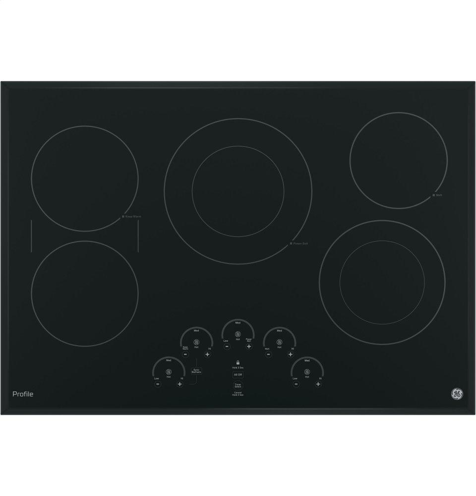 """GE Profile(TM) Series 30"""" Built-In Touch Control Electric Cooktop  Black"""