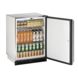"u-line24"" Outdoor Refrigerator Stainless Solid (Lock) Field Reversible"