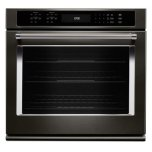 "KitchenaidBLACK STAINLESS30"" Single Wall Oven with Even-Heat True Convection - Black Stainless"