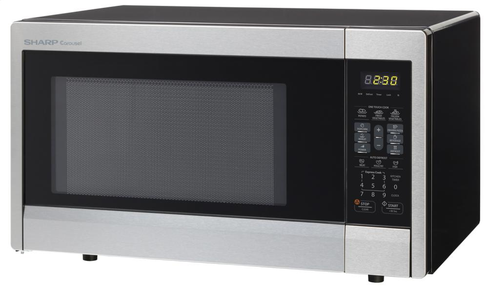 Sharp Carousel Countertop Microwave Oven 1.1 Cu. Ft. 1000w Stainless ...