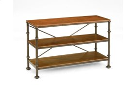 Bentley Oak / Metal Sofa Table