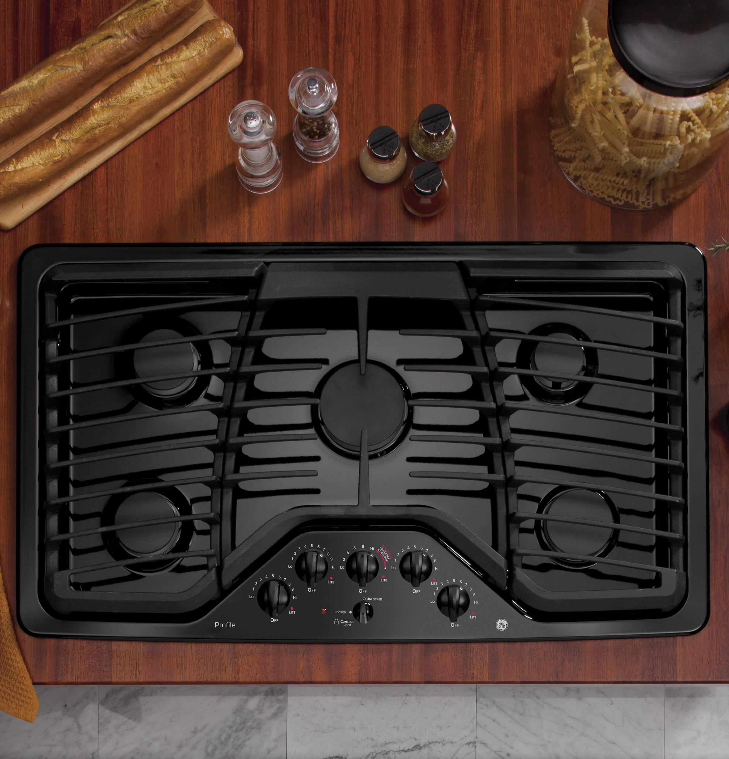"GE Profile(TM) Series 36"" Built-In Gas Cooktop