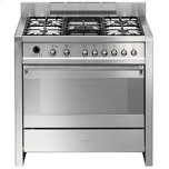 SmegSmeg Free-standing Dual Fuel Dual Cavity &quotOpera&quot Range Approx. 36&quot Stainless Steel