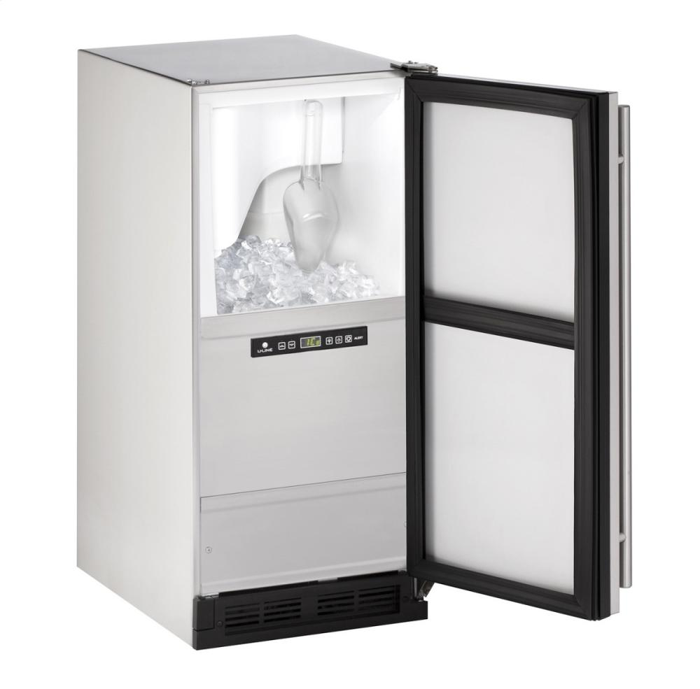 "Outdoor Series 15"" Outdoor Clear Ice Machine With Stainless Solid Finish and Field Reversible Door Swing