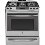 GE Profile 5.6 Cu. Ft. Slide-in Self Clean Convection Gas Range with Warming Drawer