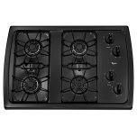 Whirlpool30'' Gas Cooktop, 4 Sealed Burners, AccuSimmer Burner, ADA Compliant - Black