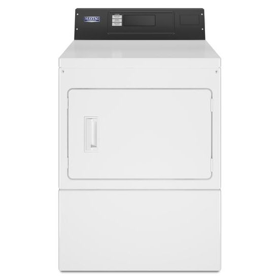 Commercial Gas Super-Capacity Dryer, Card-Ready  White