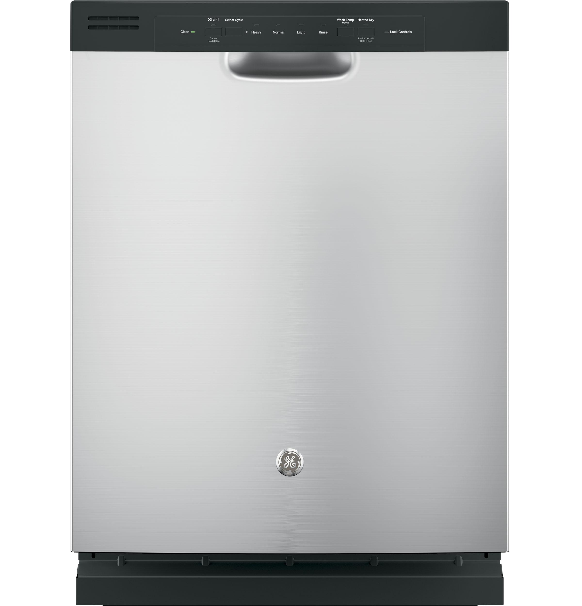 GE(R) Dishwasher with Front Controls  Stainless Steel