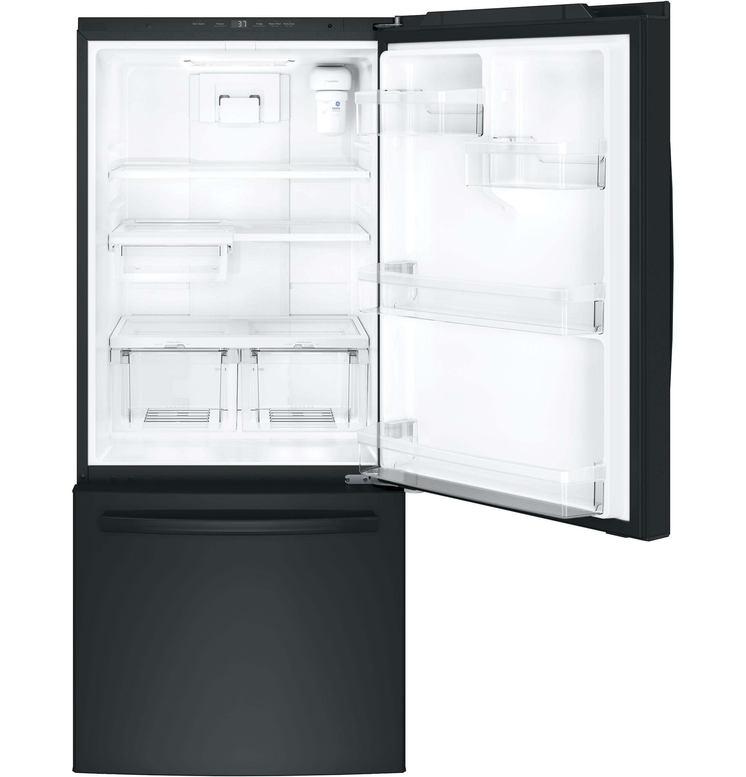 GE(R) ENERGY STAR(R) 20.9 Cu. Ft. Bottom-Freezer Refrigerator