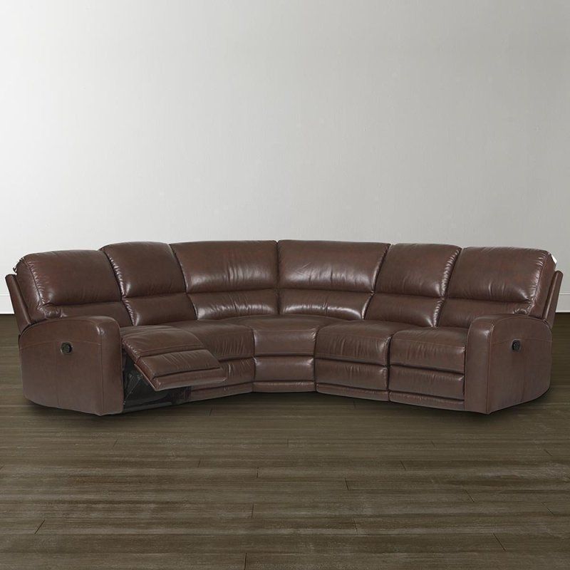 3747lsectep5 In By Bassett Furniture In Henagar Power Versa Espresso Versa Motion Sectional