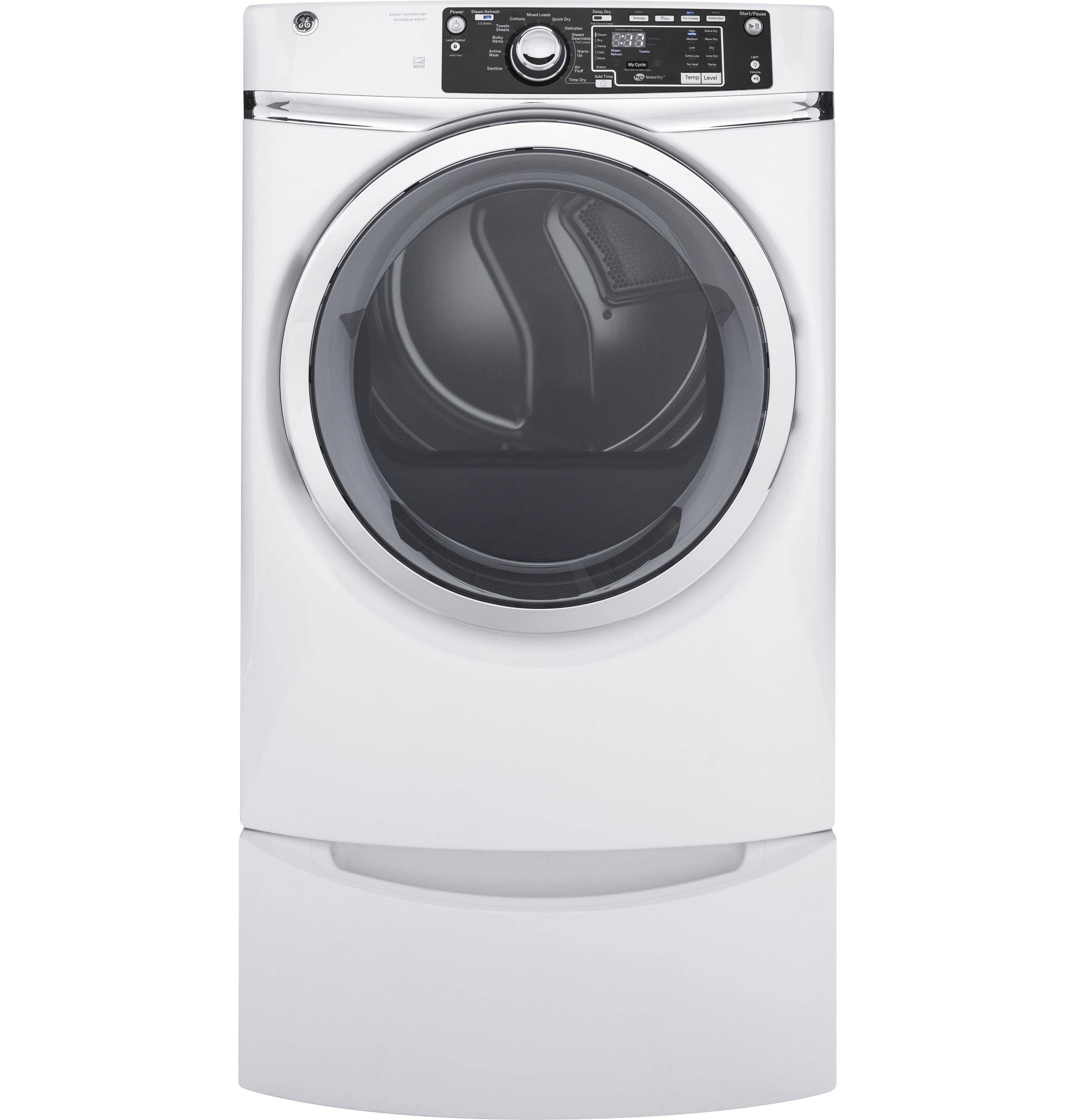 GE(R) 8.3 cu. ft. capacity Front Load gas ENERGY STAR(R) dryer with steam