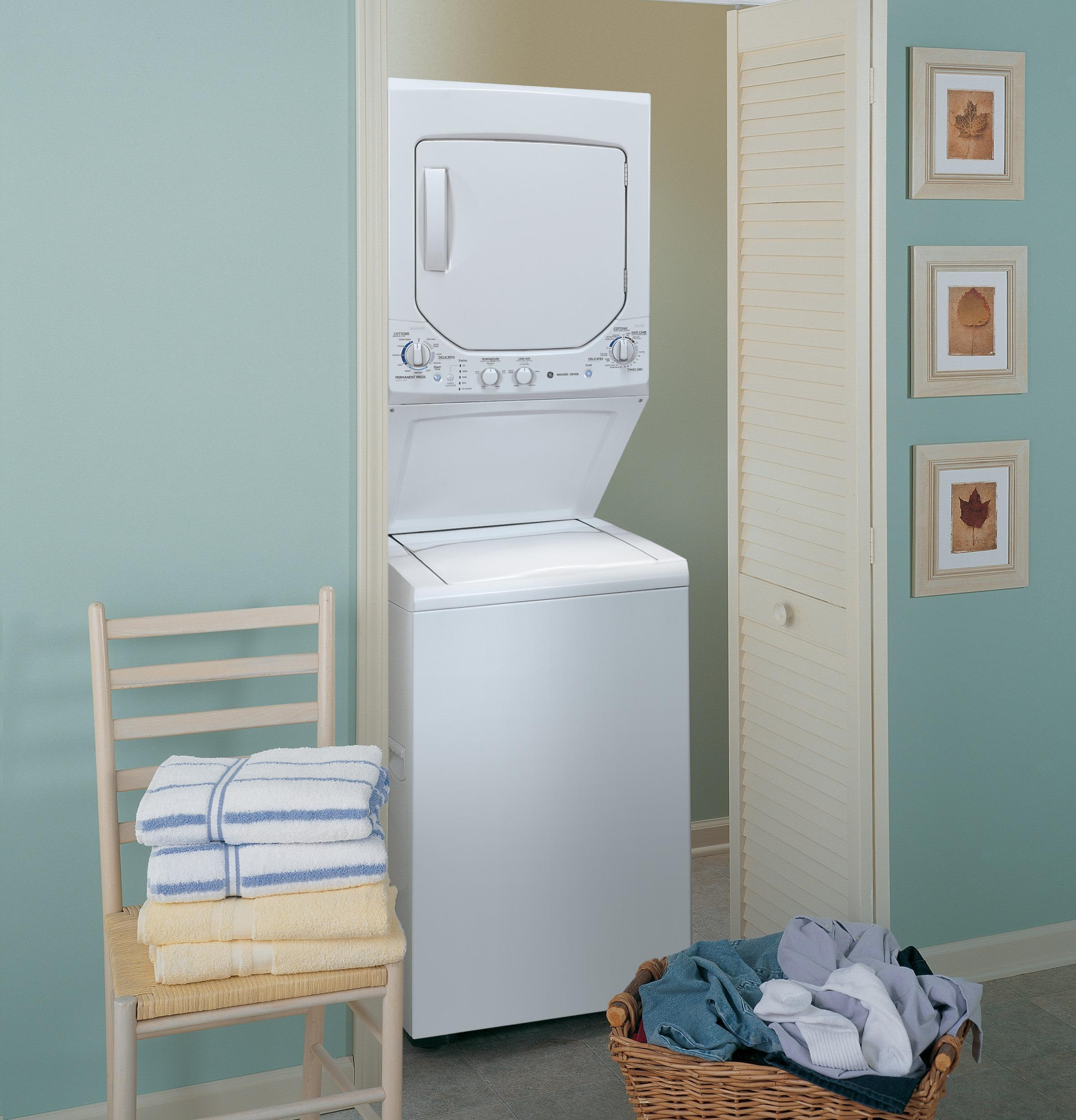 GE Unitized Spacemaker(R) 2.0 DOE cu. ft. Washer and 4.4 cu. ft. Electric Dryer