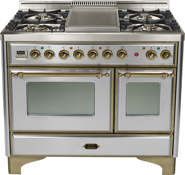 "Stainless 40"" Griddle Top Majestic Techno Dual Fuel Range