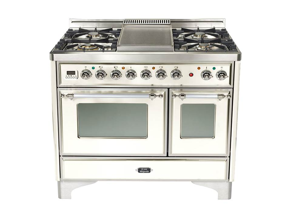 "True White 40"" Griddle Top Majestic Techno Dual Fuel Range