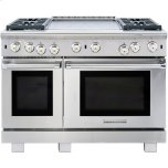 American Range�Standard Bake, Convection Bake, Infrared Broil and Fan Modes �Uniform Airflow From Convection System �Three Sizes of Burners with Variable Flame Settings �Commercial-Grade Cast Iron Grates