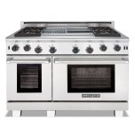American Range•Standard Bake, Convection Bake, Infrared Broil and Fan Modes •Uniform Airflow From Convection System •Three Sizes of Burners with Variable Flame Settings •Commercial-Grade Cast Iron Grates