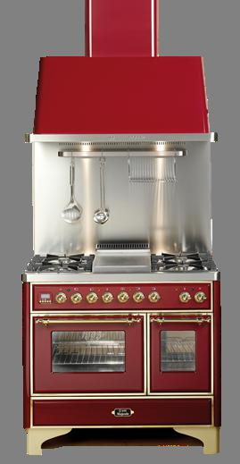 "Stainless 40"" French Top Majestic Techno Dual Fuel Range
