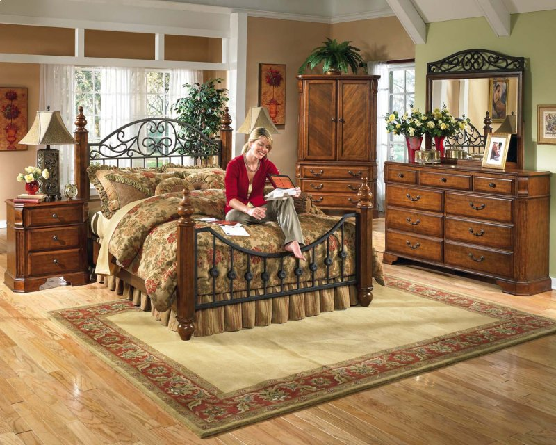 furniture in waterloo on wyatt reddish brown 2 piece bedroom set