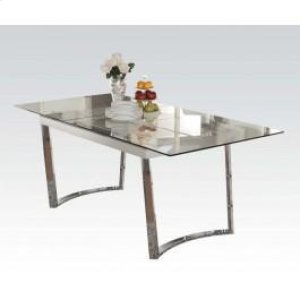 Osias White Dining Table Hidden