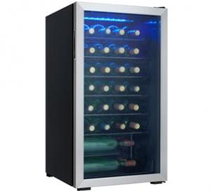 Danby 36 Bottle Wine Cooler  Black with Stainless Steel