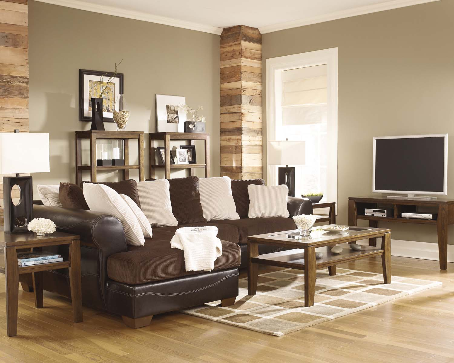 Hidden · Additional Victory   Chocolate 2 Piece Sectional