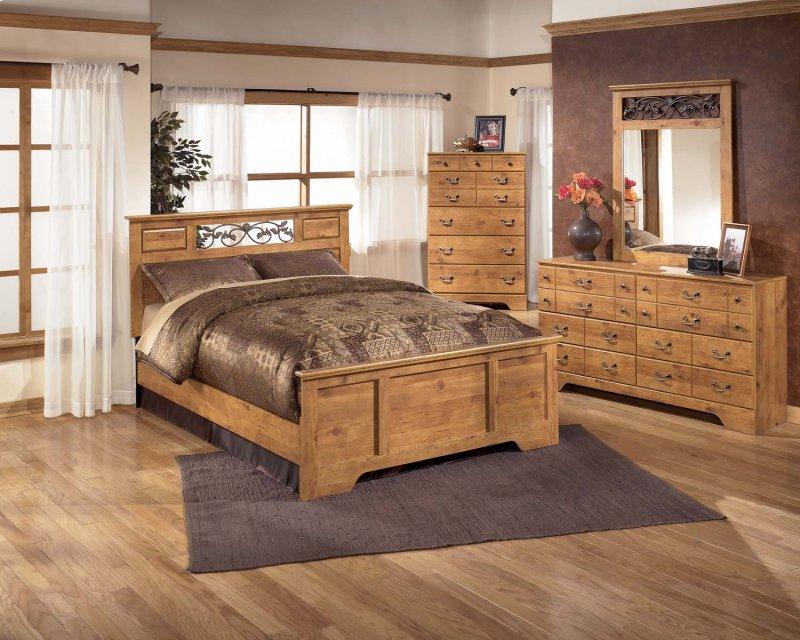 bittersweet light brown 6 piece bedroom set