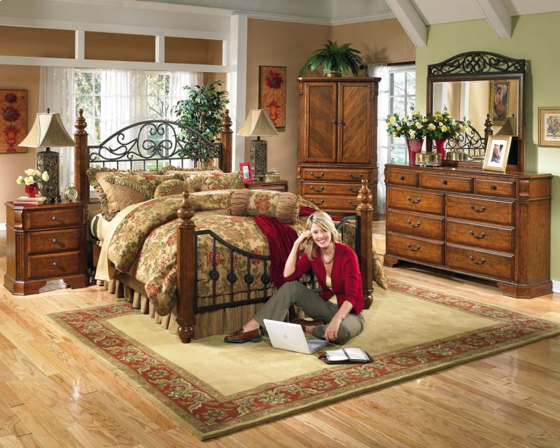 furniture in dayton oh wyatt reddish brown 2 piece bedroom set