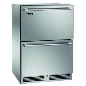 "Perlick 24"" Outdoor Dual-Zone Freezer/refrigerator Drawers"
