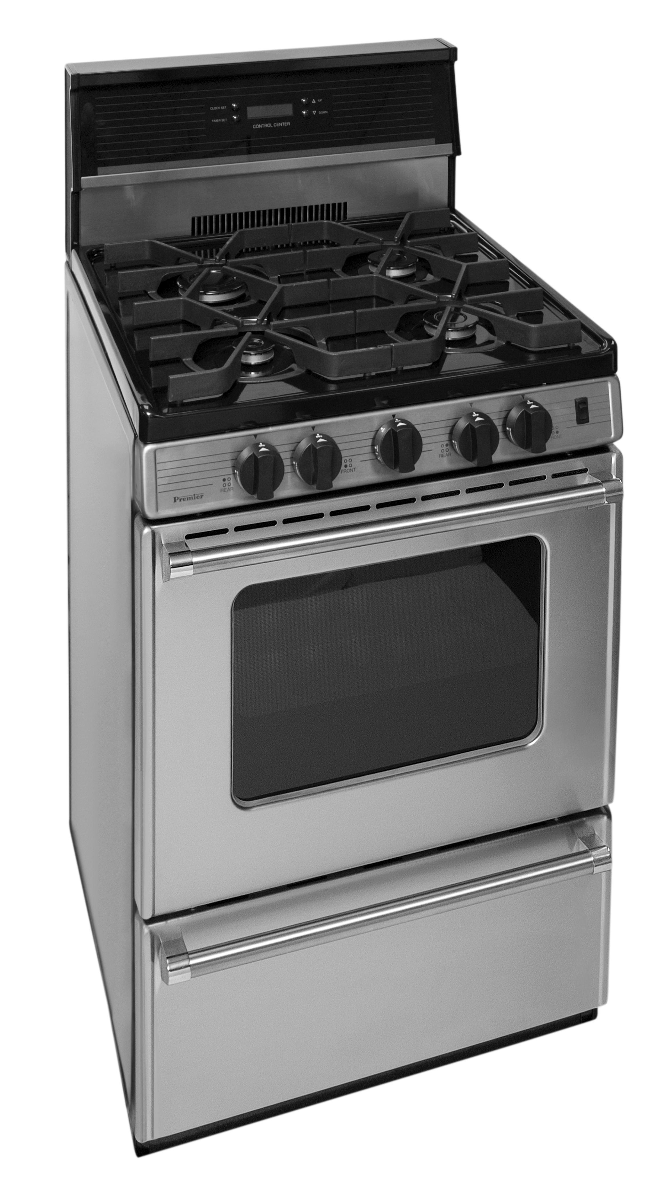 24 in. ProSeries Freestanding Sealed Burner Gas Range in Stainless Steel
