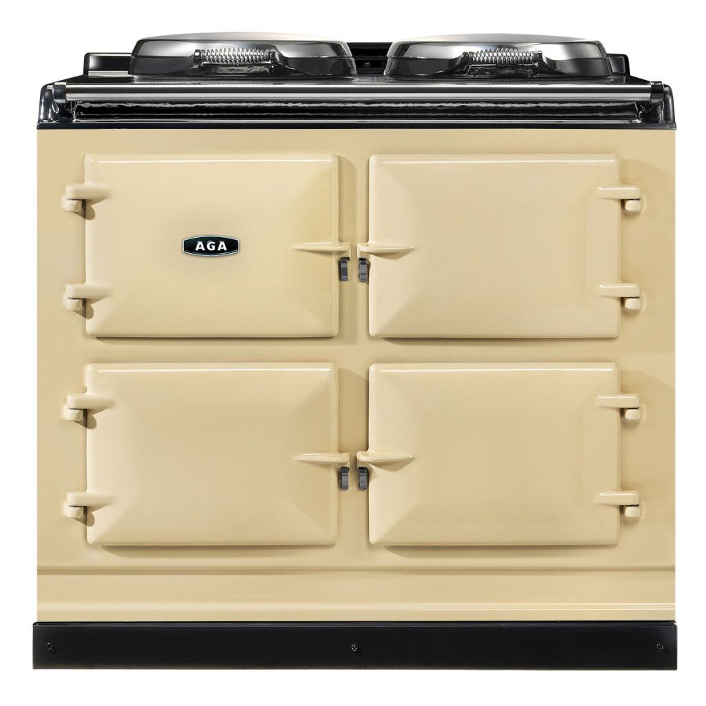 White AGA Dual Control 3-Oven Natural Gas