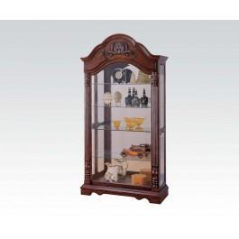 Cherry Curio Cabinet Hidden