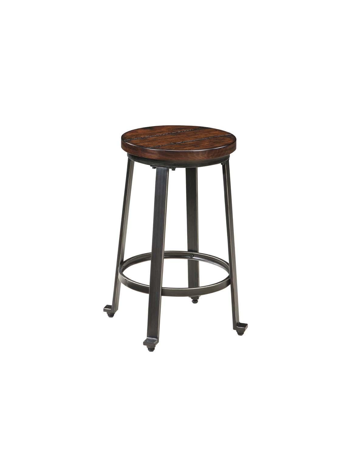 Challiman   Rustic Brown Set Of 2 Dining Room Barstools Product Image