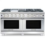 American Range�Innovection® Convection Technology �	Option 4� Rise & Leg Caps �	2 Chrome Racks w/ 5 Cooking Positions �Blue LED Function Lights �Island Back Trim Included & Installed