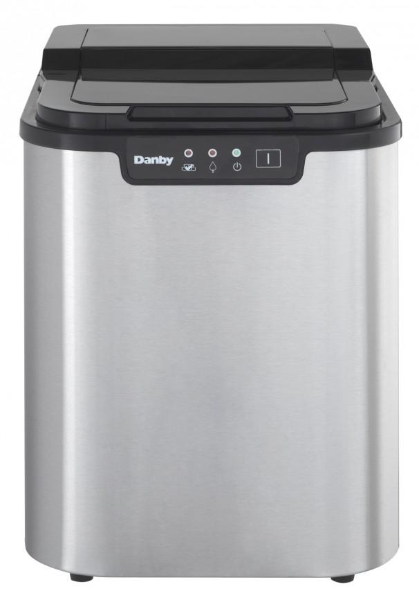 Danby 2 lb Ice Maker  Black with Stainless Steel