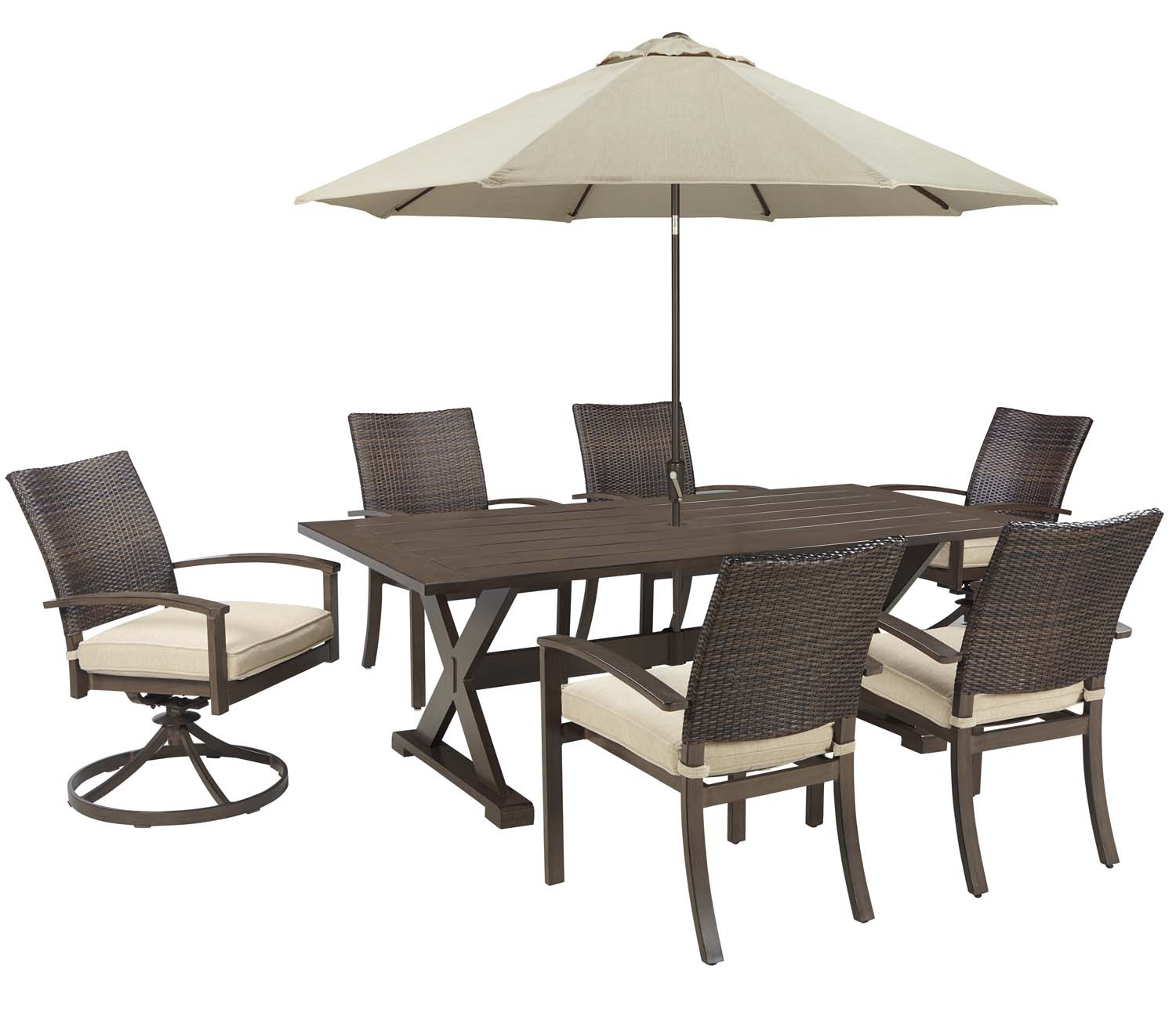 Exceptional Moresdale   Brown 3 Piece Patio Set