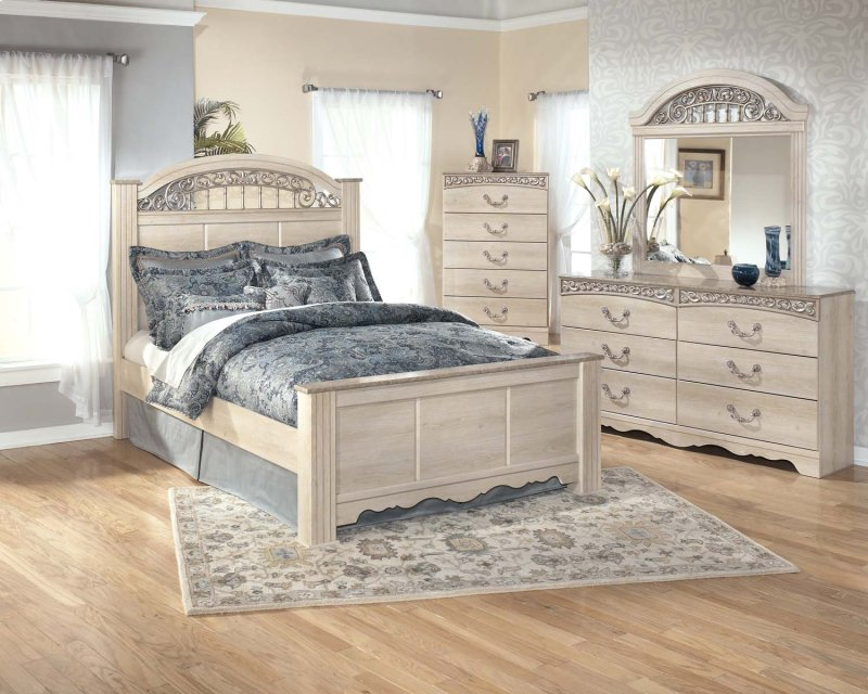 additional catalina antique white 2 piece bedroom set